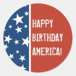 Happy Birthday America Sticker