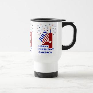 Happy Birthday America Travel Mug