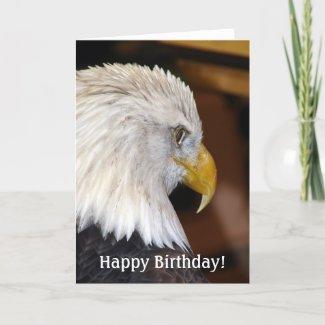Happy Birthday! American Bald Eagle card