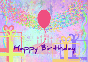 Happy Birthday And Best Wishes One Ballon Poster