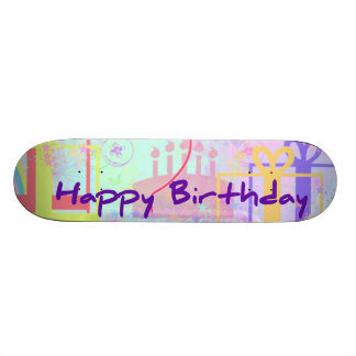 Happy Birthday and Best Wishes One Ballon Skate Board Decks
