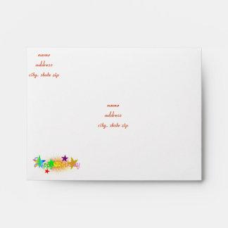 Happy Birthday and Stars - Envelope