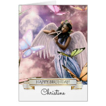 Happy Birthday. Angel with Butterflies Cards