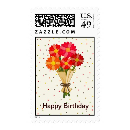 Happy Birthday - ANY REASON Flower Bouquet - Stamp
