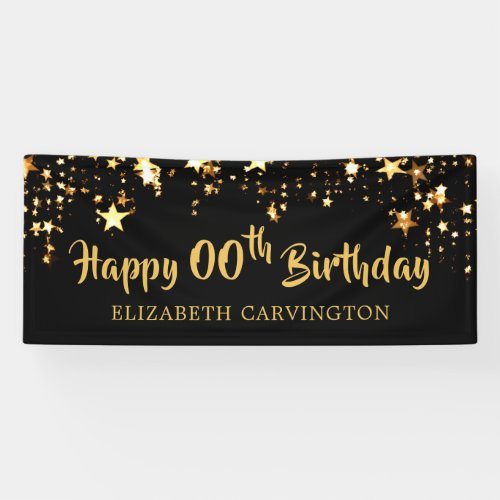 Happy Birthday _ ANY YEAR Personalized Banner