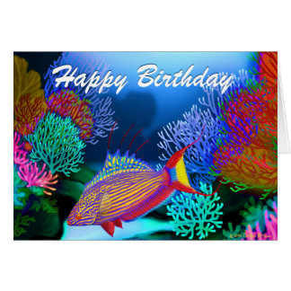 Happy Birthday Aquarium Fish Card