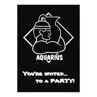 Happy Birthday Aquarius Astrology Zodiac Sign Card
