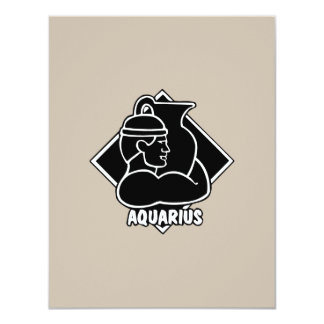 Happy Birthday Aquarius Astrology Zodiac Sign Personalized Announcement