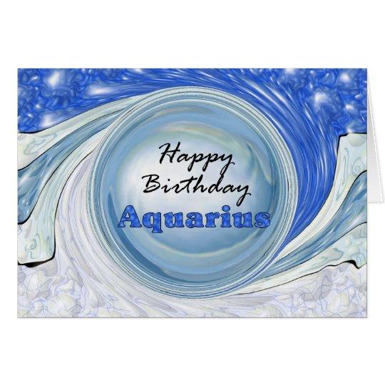 Happy Birthday Aquarius Card