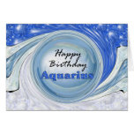 Happy Birthday Aquarius Greeting Card