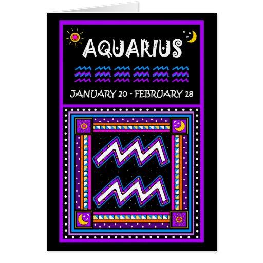 HAPPY BIRTHDAY AQUARIUS! GREETING CARDS