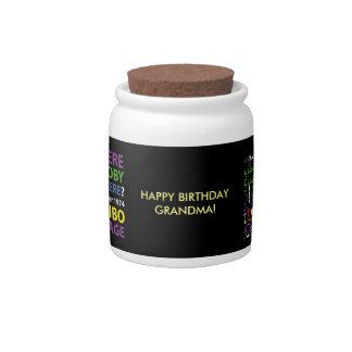 HAPPY BIRTHDAY ARECIBO CANDY DISH
