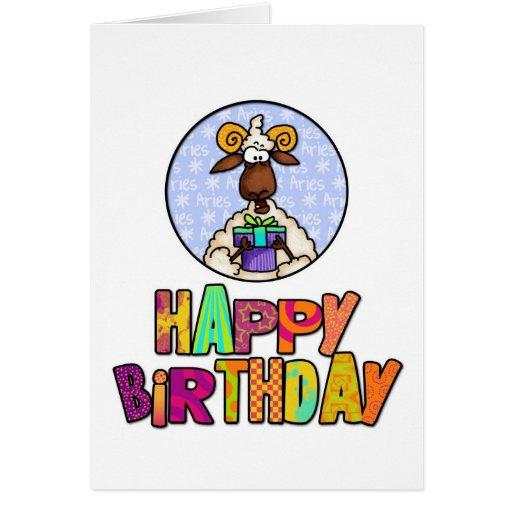 Happy Birthday - Aries Card