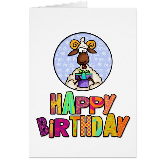 Happy Birthday - Aries Card