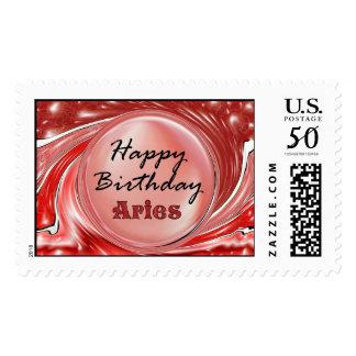 Happy Birthday Aries Postage
