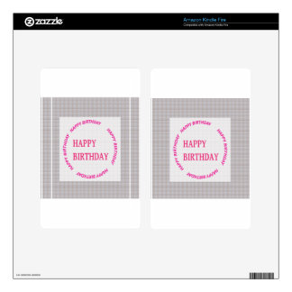 Happy Birthday art on Crystal Stone Tile Decals For Kindle Fire
