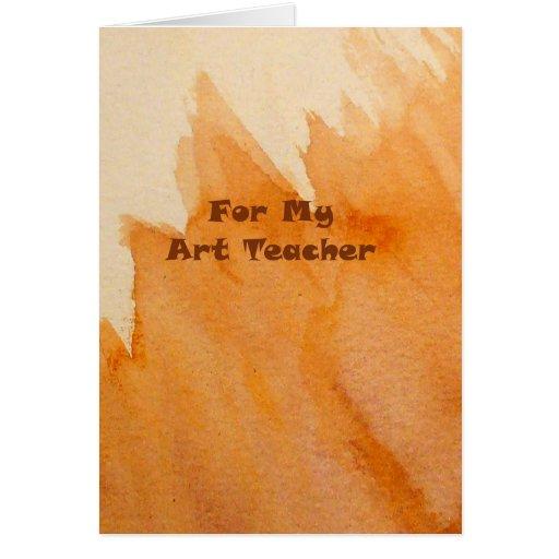 Happy Birthday Art Teacher Greeting Card