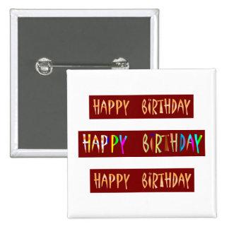 HAPPY BIRTHDAY Artistic Script Text Button