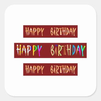 HAPPY BIRTHDAY Artistic Script Text Sticker