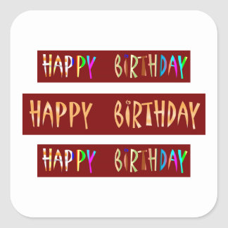 HAPPY BIRTHDAY Artistic Script Text Stickers