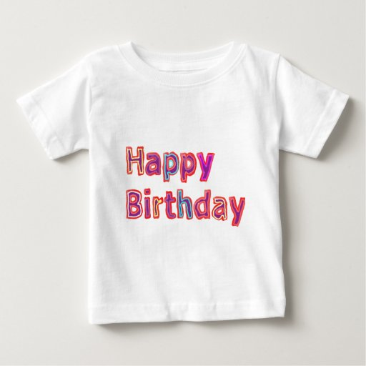 Happy Birthday -  Artistic Script Text T Shirts