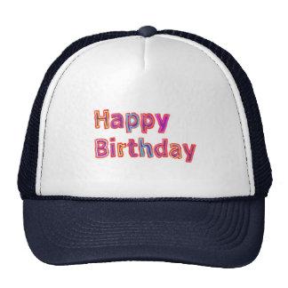 Happy Birthday -  Artistic Script Text Trucker Hat