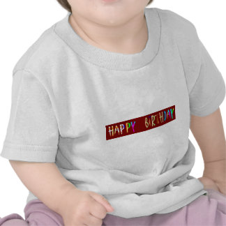 HAPPY BIRTHDAY Artistic Script Text Tshirt