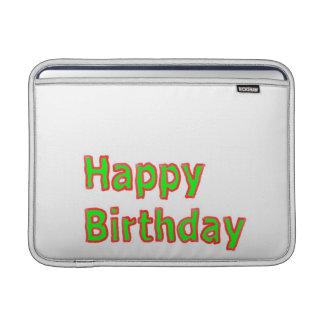 Happy Birthday -  Artistic Text Script MacBook Air Sleeve