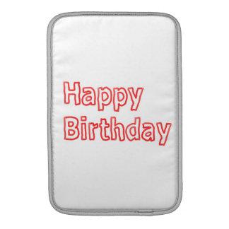 Happy Birthday -  Artistic Text Script MacBook Sleeve