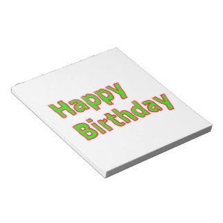 Happy Birthday -  Artistic Text Script Notepads
