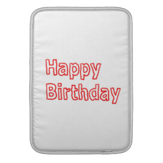 Happy Birthday -  Artistic Text Script Sleeve For MacBook Air