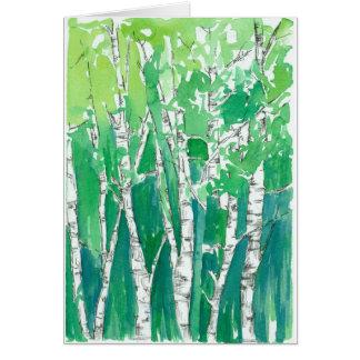 Happy Birthday Aspen Trees Emerald Green Card