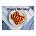 Happy Birthday, August 24, Texas Waffle Stationery Note Card