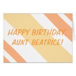 Happy Birthday Aunt peachtanstripes Greeting Cards