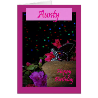 Happy birthday Aunty Aunt fairy faerie magical Greeting Card