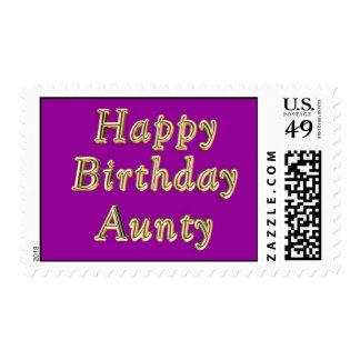 Happy Birthday Aunty Birthday birthday wishes Stamp