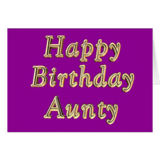 Happy Birthday Aunty Birthday cake wishes Card
