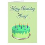 Happy Birthday Aunty Birthday cake wishes Greeting Card
