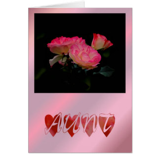 Happy Birthday Aunty Birthday roses flowers wishes Card