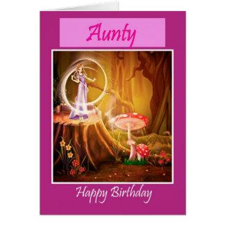 Happy Birthday Aunty with fairy Aunt birthday Card