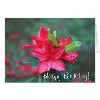 Happy Birthday Azalea Greeting Card