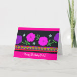 """Happy Birthday Baba! Card<br><div class=""""desc"""">Send a birthday greeting to Baba with a cheery card with a Ukrainian border design and bright petunias. Personalize to your liking.</div>"""