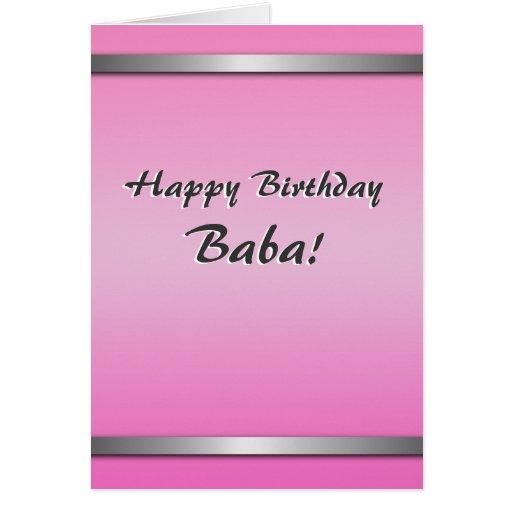 Happy Birthday Baba card (simple, blank on inside)