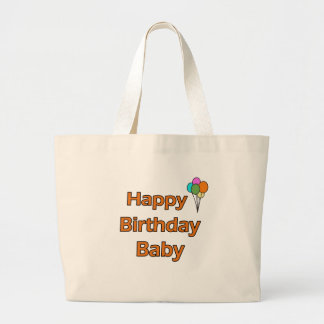 Happy Birthday Baby Canvas Bags
