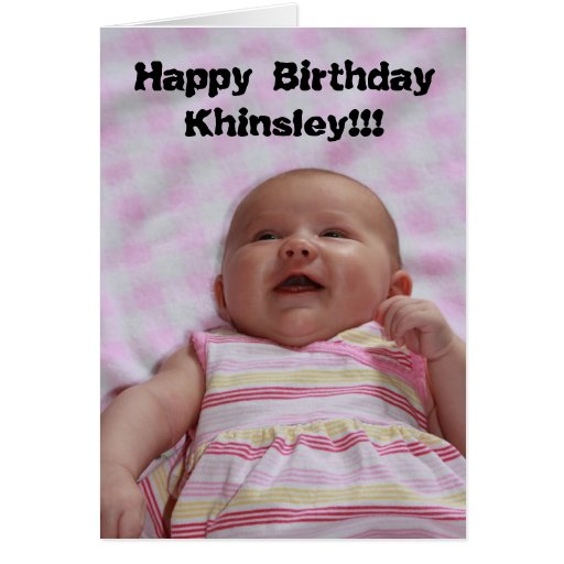 Happy Birthday Baby Girl Birthday Greeting Card | Zazzle