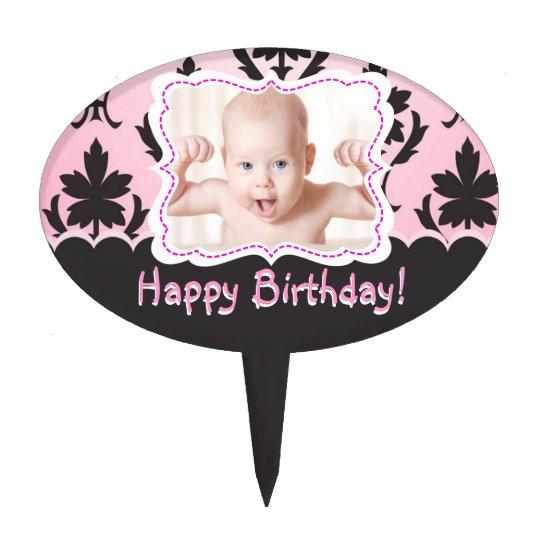 Happy Birthday! Baby Girl Cake Topper