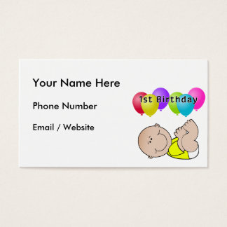 Happy Birthday Baby in Yellow Business Card