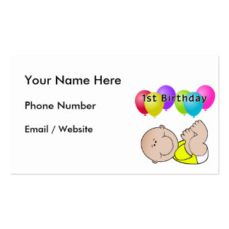 Happy Birthday Baby in Yellow Double-Sided Standard Business Cards (Pack Of 100)