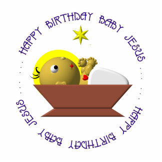 Happy Birthday Baby Jesus Photo Cutout