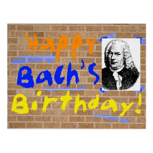 Happy Birthday, Bach Post Cards